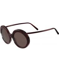 Marni Ladies ME609S Bordeaux and Havana Sunglasses