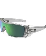 Oakley OO9101-54 Batwolf Polished Clear - Jade Iridium Sunglasses