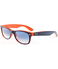 RayBan RB2132 52 New Wayfarer Top Blue-Orange 789-3F Sunglasses