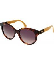 Fendi Pequin FF 0013-S 7TA R4 Tortoiseshell Ochre Sunglasses