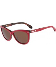 Calvin Klein Platinum Ladies CK4220S Red Havana Sunglasses