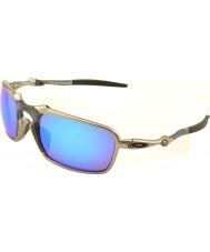 Oakley OO6020-04 Badman Plasma - Sapphire Iridium Polarized Sunglasses