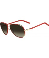 Chloe Ladies CE100SL Gold and Red Sunglasses