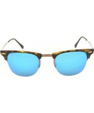 RayBan RB8056 Clubmaster Light Ray Tortoiseshell - Blue Mirror