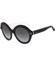 Valentino Ladies V696S Black White Sunglasses