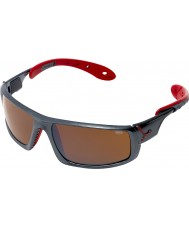 Cebe Ice 8000 Dark Grey Red Sunglasses