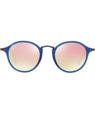 RayBan RB2447N 49 Icons Transparent Blue 62547O Copper Flash Sunglasses