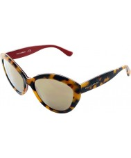 Dolce and Gabbana DG4239 56 Contemporary Top Havana on Red 28936G1 Sunglasses