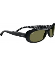 Serengeti Bella Shiny Black Polarized 555nm Sunglasses