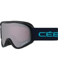 Cebe CBG104 Striker M Black and Blue - Light Rose Flash Mirror Ski Goggles