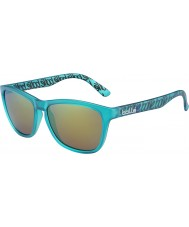Bolle 437 Retro Collection Matt Turquoise Polarized Brown Emerald Sunglasses