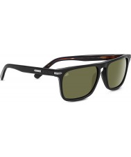 Serengeti Carlo Shiny Black Polarized 555nm Sunglasses
