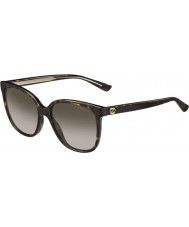 Gucci Ladies GG 3819-S KCL HA Dark Havana Sunglasses
