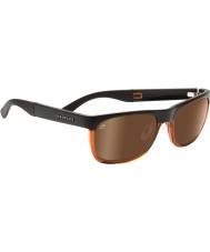 Serengeti Nico Satin Brown Shiny Cognac Polarized Drivers Sunglasses
