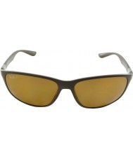 RayBan RB4213 61 Tech Liteforce Dark Matte Brown 612483 Polarized Sunglasses