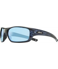 Revo RE4073 Guide II Navy Woodgrain - Blue Water Polarized Sunglasses