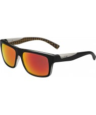 Bolle Clint Matt Black Orange Polarized TNS Fire Sunglasses