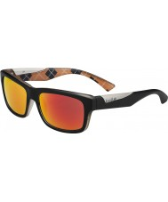 Bolle Jude Matt Black Orange Polarized TNS Fire Sunglasses