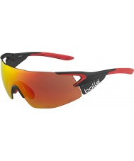 Bolle 5th Element Pro Shiny Matt Carbon Red TNS Fire Sunglasses