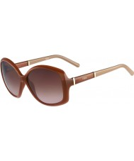 Chloe Ladies CE663S Light Brown Sunglasses