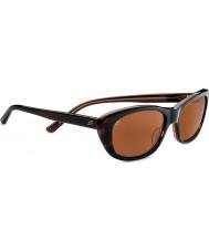 Serengeti Bagheria Dark Tortoiseshell Honey Polarized Drivers Sunglasses