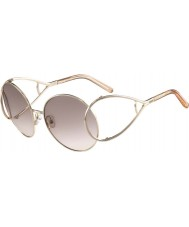 Chloe Ladies CE124S Gold and Peach Sunglasses