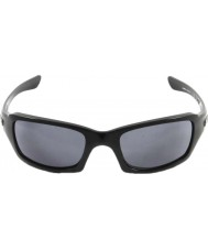 Oakley OO9238-04 Fives Squared Polished Black - Grey Sunglasses
