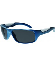 Bolle Vibe Shiny Blue Polarized TNS Gun Sunglasses