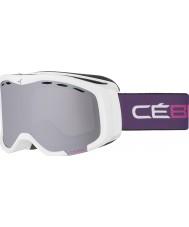 Cebe CBG110 Cheeky OTG White and Violet - Dark Rose Flash Mirror Ski Goggles