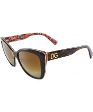 Dolce and Gabbana DG4216 55 Top Havana On Mosaic 2790T5 Polarized Sunglasses