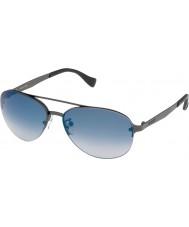 Police Mens Brazen S8956-627B Matt Gunmetal Mirrored Blue Sunglasses