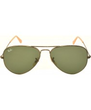 RayBan RB3025 58 Aviator Large Metal Antique Gold 177 Sunglasses