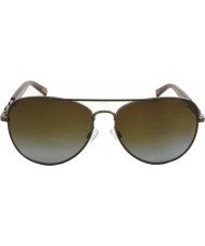 Michael Kors MK1003 58 Fiji Gunmetal 1002T5 Polarized Sunglasses