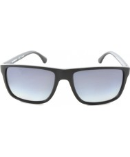 Emporio Armani EA4033 56 Modern Black Grey Rubber 5229T3 Polarized Sunglasses