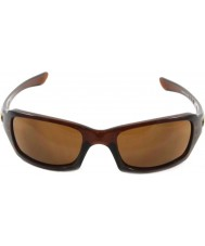 Oakley OO9238-07 Fives Squared Polished Rootbeer - Dark Bronze Sunglasses