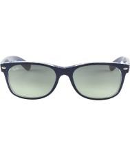 RayBan RB2132 55 New Wayfarer Matte Blue On Transparent 605371 Sunglasses