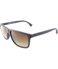 Emporio Armani EA4033 56 Modern Brown Rubber Blue 523113 Sunglasses