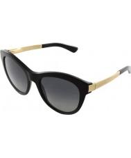 Dolce and Gabbana DG4243 53 Sicilian Taste Black 501-T31 Polarized Sunglasses