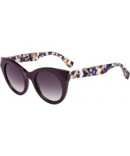 Fendi Ladies FF 0203-S 5ND J8 Plum Multicolor Sunglasses