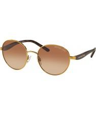 Michael Kors MK1007 52 Sadie III Gold 100413 Sunglasses