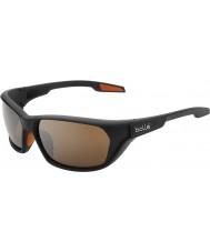 Bolle Aravis Shiny Black Bolle 100 Gun Sunglasses