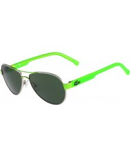 Lacoste Kids L3103S Silver Green Sunglasses