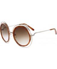 Chloe Ladies CE120S Carlina Gold Caramel Sunglasses