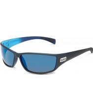 Bolle Python Matt Black Blue Polarized GB-10 Sunglasses