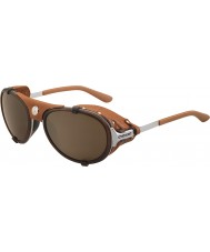 Cebe Lhotse Matt Silver Brown Mirror Sunglasses