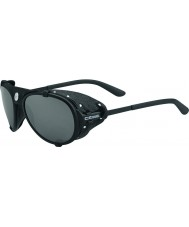 Cebe Lhotse Matt Black Silver Mirror Sunglasses