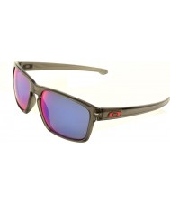 Oakley OO9262-11 Sliver Grey Smoke - Positive Red Iridium Polarized Sunglasses