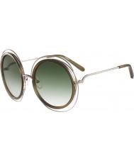 Chloe Ladies CE120S Carlina Gold Khaki Sunglasses