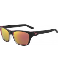 Cebe Hacker Shiny Black 1500 Grey Flash Mirror Pink Sunglasses