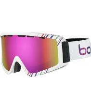 Bolle 21497 Z5 OTG Shiny White and Pink - Rose Gold Ski Goggles